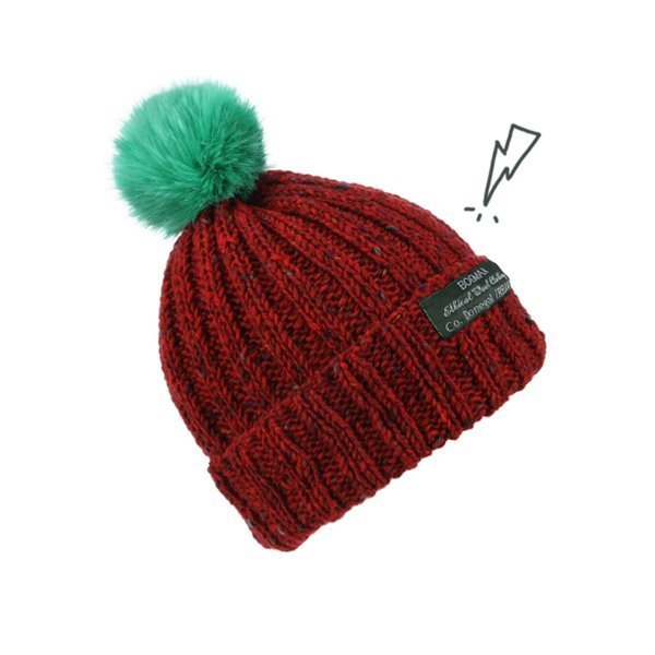 a6cd56a5097 Knitted Irish wool beanie made with classic Donegal tweed wool it ...