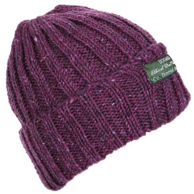 Deep purple bogman beanie