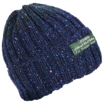 Classic bogman beanie in Navy with flecks of lavender