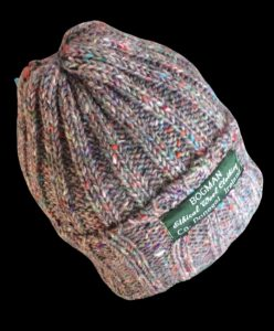 Ethical and sustainable Bogman Beanie sometimes called a watchmans cap or wool hat