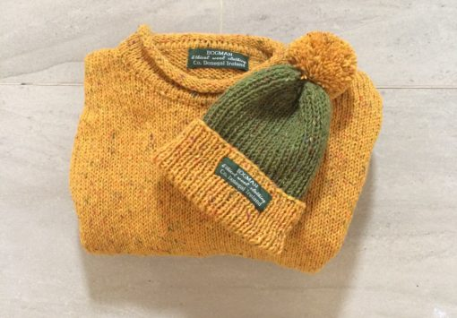 sweater in mustard or yellow made using pure wool