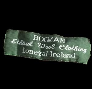 BOGMAN label for wool beanies