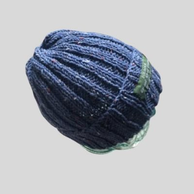 Denim colour knitted beanie hat