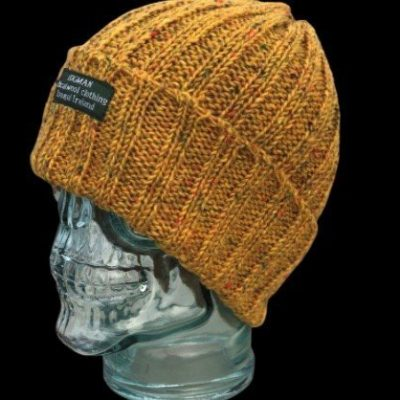 mustard yellow wool hat