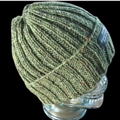 Sphagnum green beanie wool hat