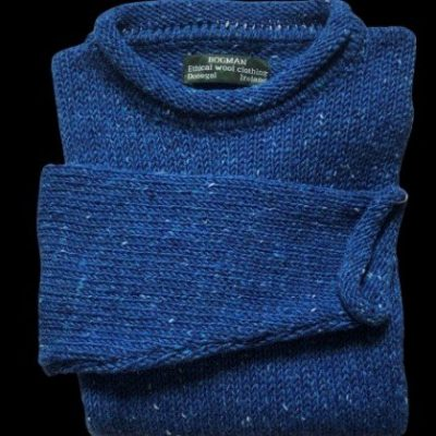 blue wool sweater